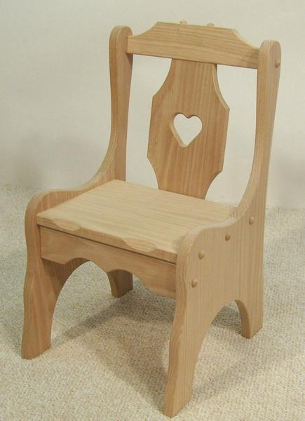 Amish Heart Child's Chair