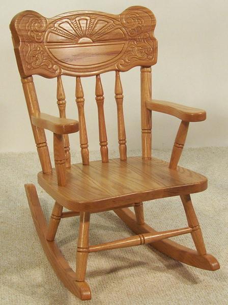 Amish Sunburst Kids' Rocking Chair