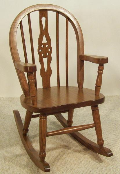 Amish Fiddleback Legacy Kids' Rocking Chair