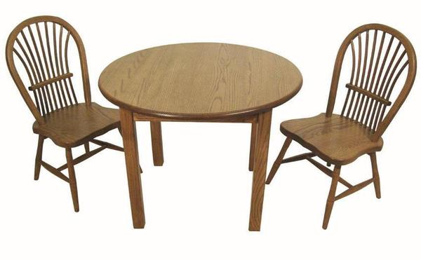 Amish Child's Round Activity Table