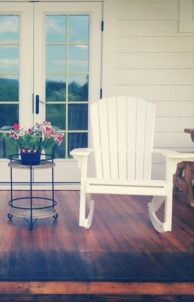 Amish Fan-Back Poly Adirondack Rocker