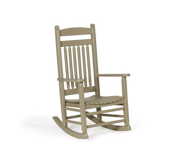 Amish Outdoor Poly Lumbar Rocking Chair