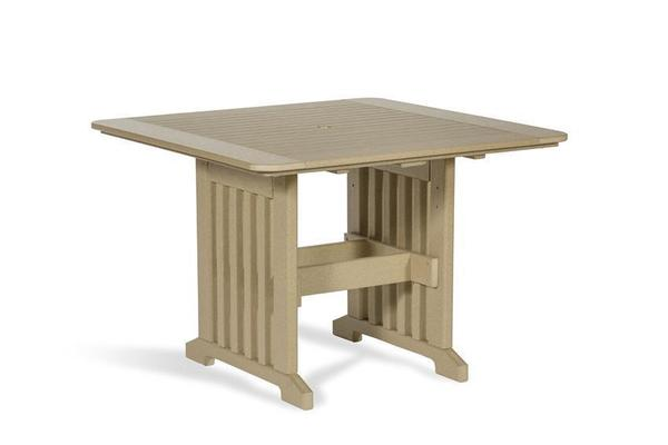 """Amish Leisure Lawns 43"""" Square Poly Patio Dining Table"""