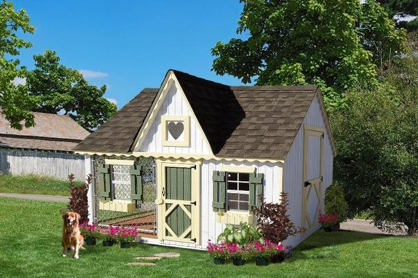 Amish Handcrafted 8'x 10' Victorian Cozy Dog Kennel
