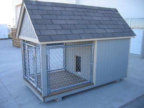 Amish Handcrafted 4'x 8' Junior Dog Kennel