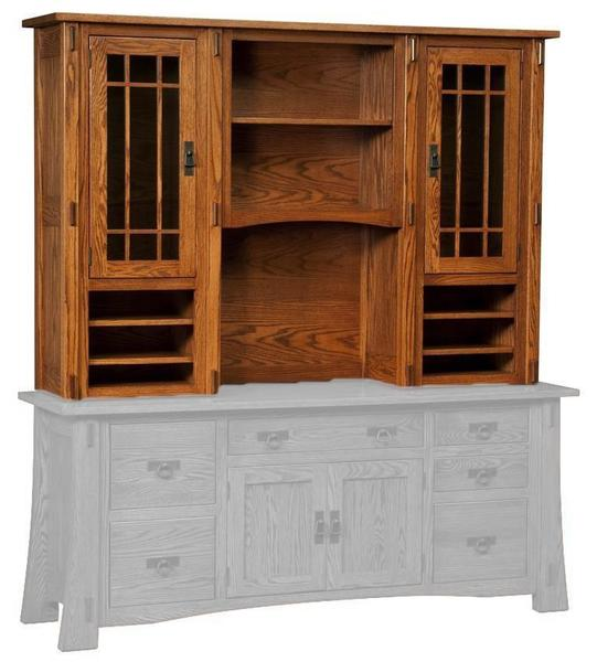 Modesto Mission Hutch Top (Desk or Credenza Base Sold Separately)
