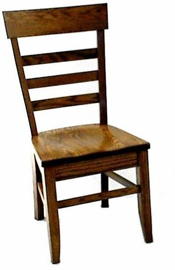 Amish Solid Wood Keystone Dining Chair
