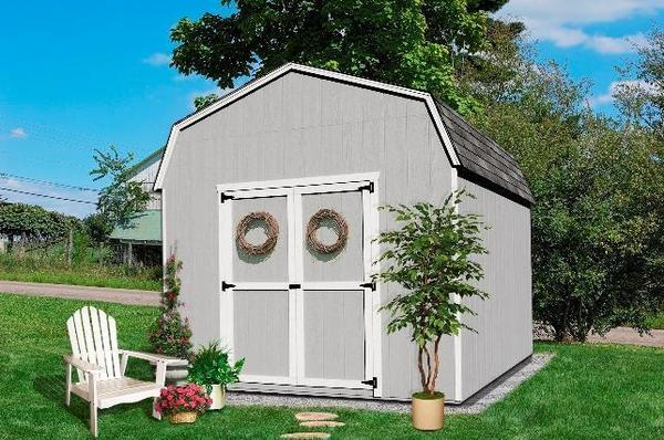 Amish Wood Value Gambrel Barn Shed Kit