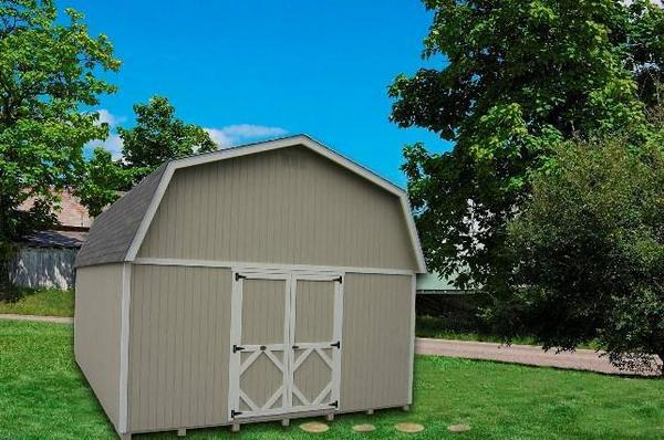 Amish Classic Gambrel Large Barn Shed