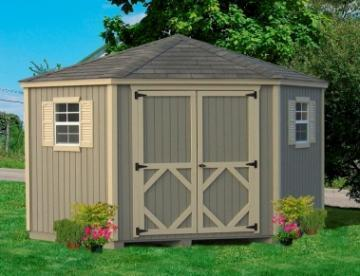 Amish Wood Classic Five-Corner Shed Kit