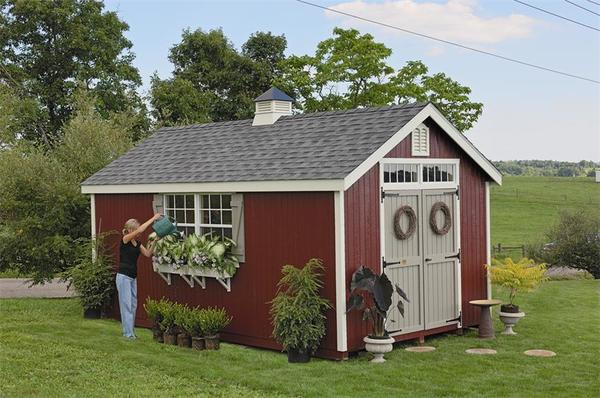 Amish wood colonial williamsburg shed from dutchcrafters amish for Colonial shed plans