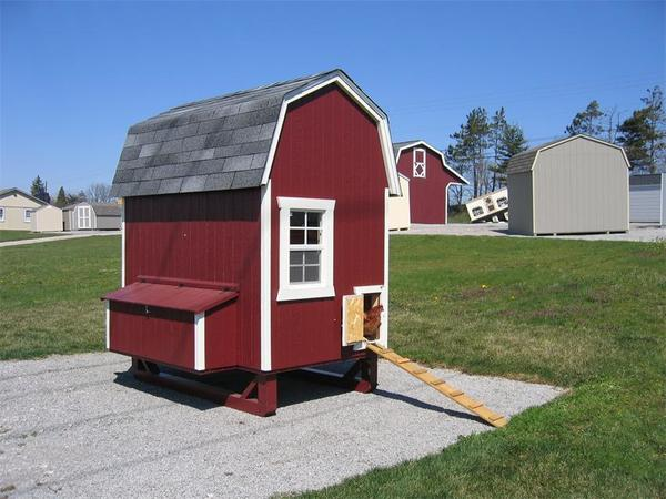 Amish Wood Gambrel Chicken Coop