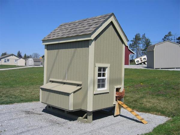 Amish Wood Colonial Chicken Coop