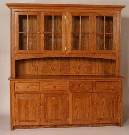 "Amish 77"" Galloway Shaker Four Door Hutch"