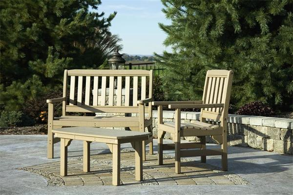 Poly Lumber Patio Furniture Set English Garden