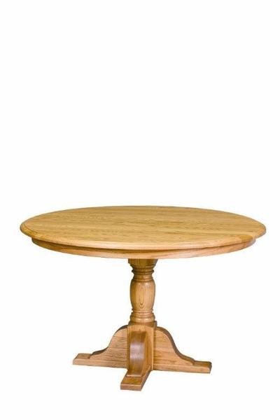 Amish Single Pedestal Innkeepers Dining Table