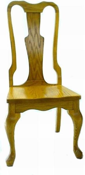 Amish Queen Anne Style Dining Room Chair