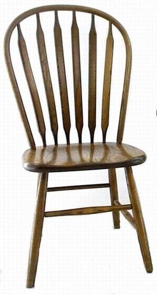 Amish Ohio Paddle Back Windsor Dining Room Chair