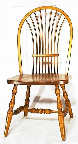 Amish Wheat Windsor Dining Room Chair