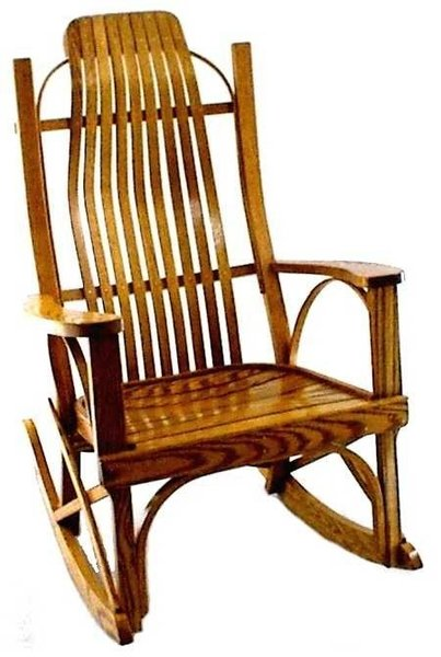 Straight Arm Bent Rocker From Dutchcrafters Amish Furniture