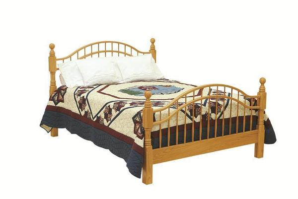 Amish Double Bow Windsor Bed