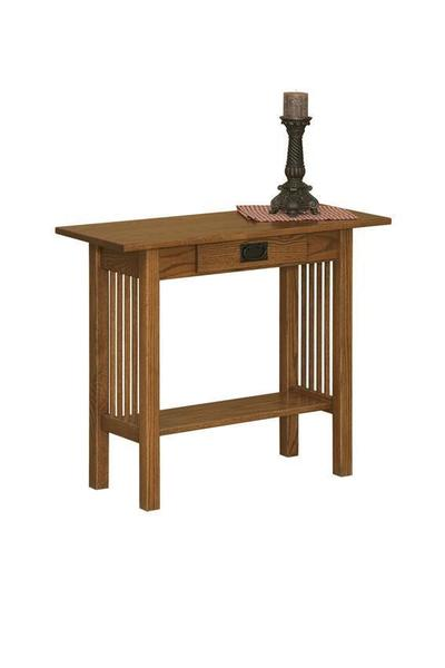 Amish Arts and Crafts Mission Console Table with Drawer