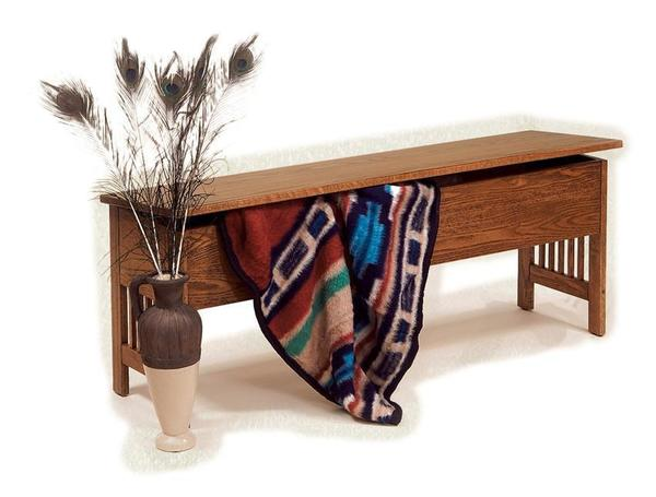 American Mission Large Storage Bench