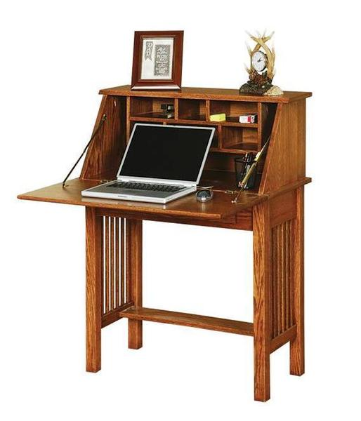 Solid Wood Mission Style Secretary Desk