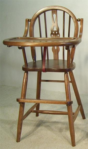 Amish Windsor Wooden High Chair