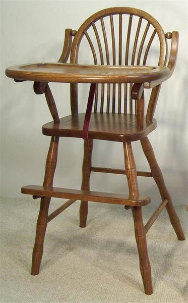 Amish Sheaf Wooden High Chair