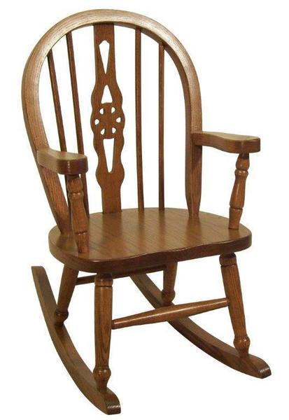 Amish Fiddleback Windsor Kids' Solid Wood Chair