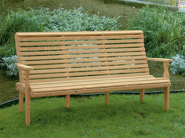 Amish Leisure Lawns Pine Wood Roll Back Porch Bench