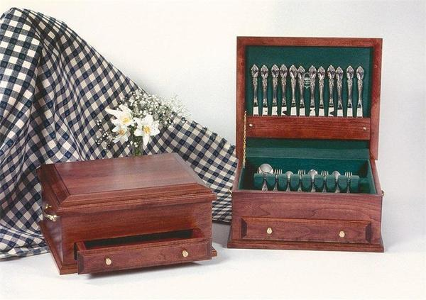 Amish Handcrafted Silverware Chest