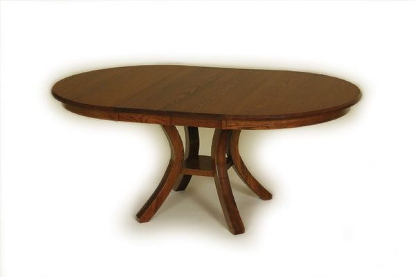 Contemporary Carlisle Single Pedestal Dining Table From DutchCrafters - Carlisle dining table