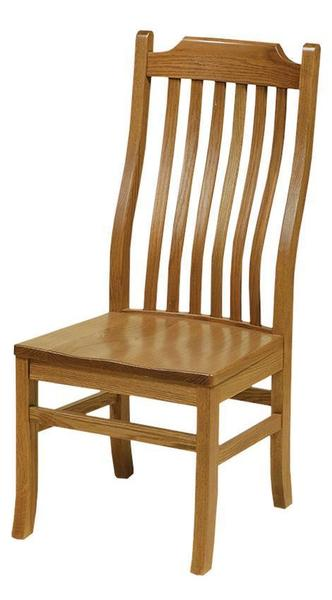 Amish American Mission Curved Back Dining Chair