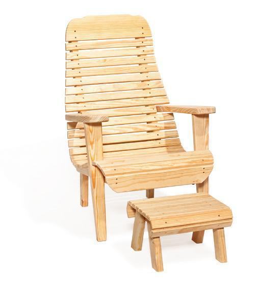 Amish Pine Wood Easy Lawn Chair