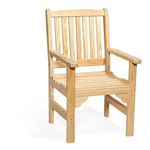 Kings Garden Amish Pine Wood Chair