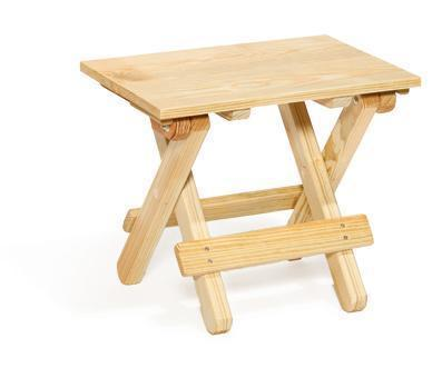 Amish Pine Wood Folding Outdoor End Table