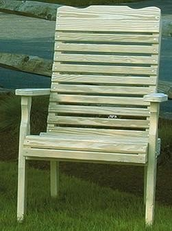 Amish Leisure Lawns Pine Wood Curve Back Patio Chair
