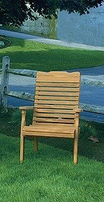 Amish Pine Wood Curve Back Patio Chair