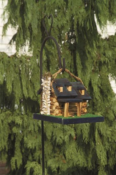 Amish Log Cabin Bird House