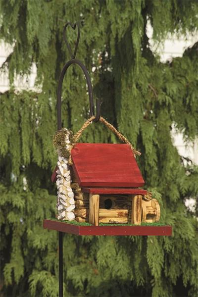 Amish Mill Cabin Bird House