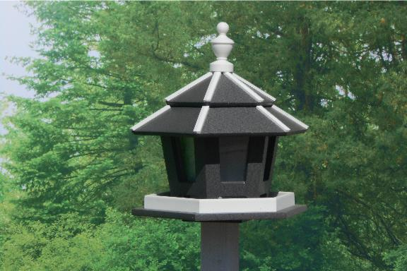 Amish Three-Station Gazebo Bird Feeder