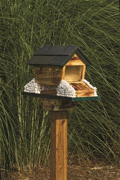 Amish Covered Bridge Bird Feeder