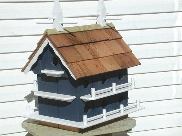 Amish Colonial Martin Bird House with 14 Compartments