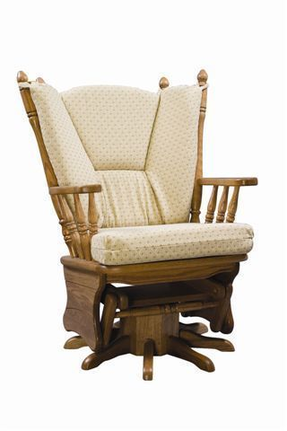 Amish Virginia Upholstered Gliding Swivel Rocking Chair