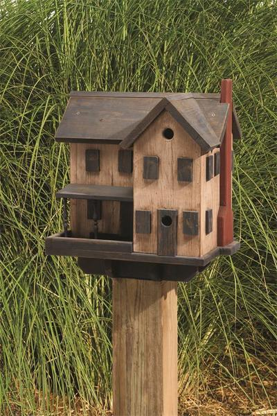 Amish Country Farmhouse Bird House and Feeder