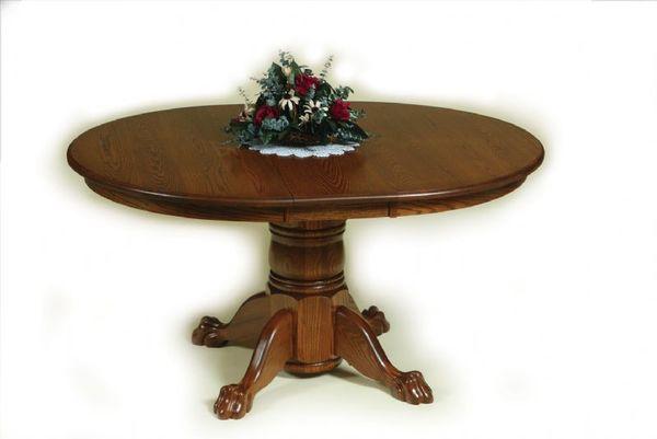 Amish Hampton Single Pedestal Dining Room Table