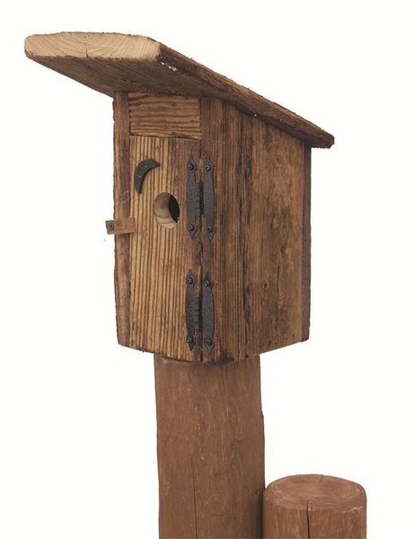 Amish Rustic Outhouse Garden Bird House