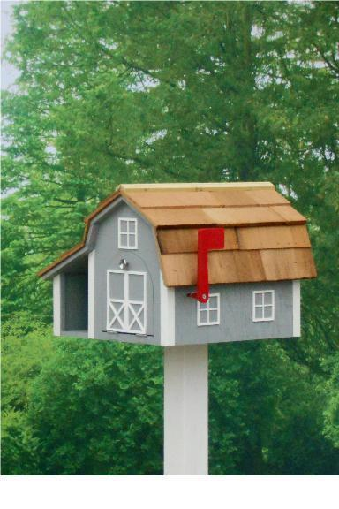 Amish Barn-Style Mailbox with Newspaper Slot